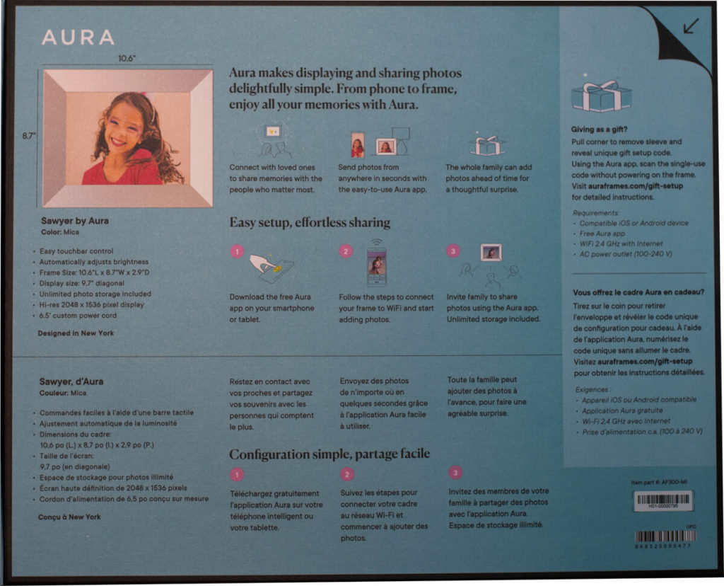 My review of the Aura Sawyer picture frame with its tack sharp display and stylish look 4