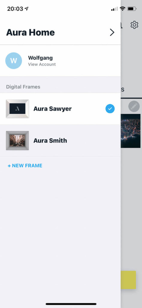 My review of the Aura Sawyer picture frame with its tack sharp display and stylish look 11