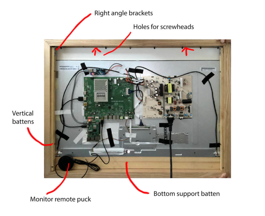 How Rob built a superslim 32-inch 4K digital picture frame based on the BenQ PD3200 and the Raspberry Pi 4 7