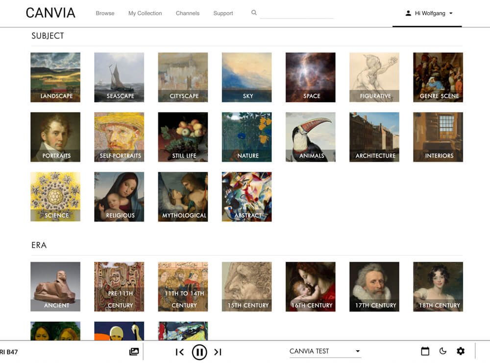 Experience the world of art with a Canvia Art Frame 11