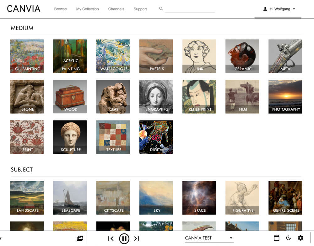 Experience the world of art with a Canvia Art Frame 10
