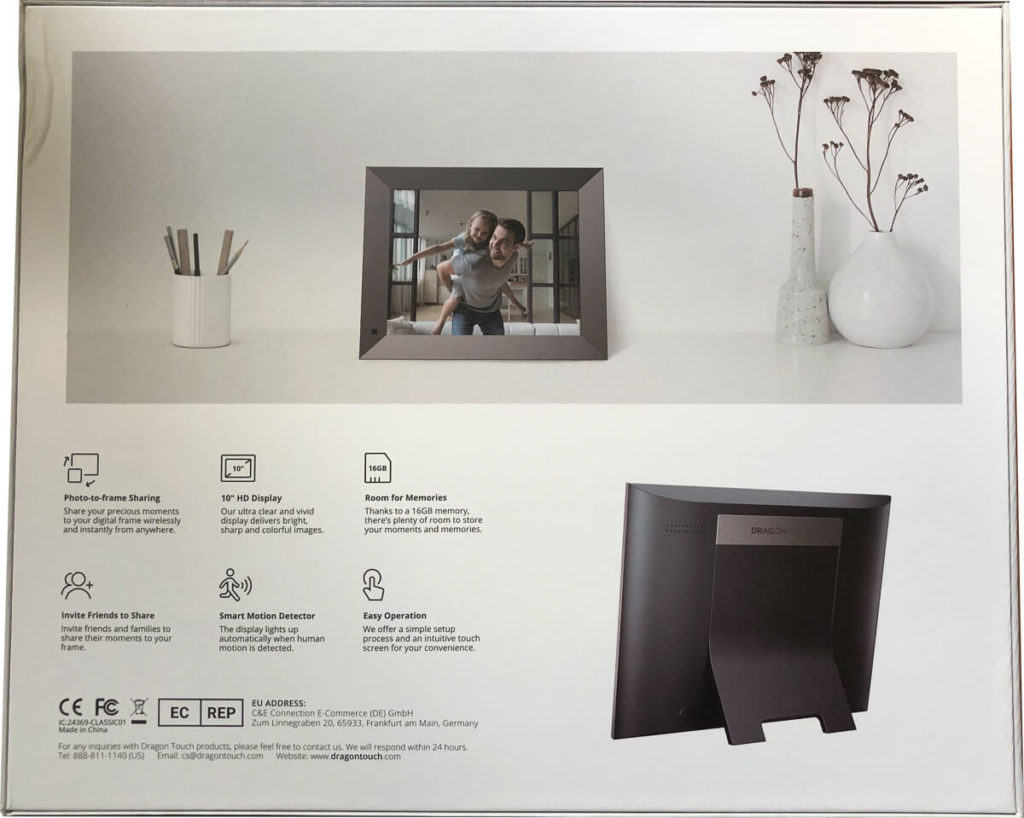 My review of the Dragon Touch Classic 10 Elite Digital Photo Frame with touch screen and WiFi 4