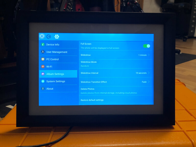 My impression of the Dragon Touch Digital Picture Frame Classic 10 with touch screen, WiFi, and SD/USB 17
