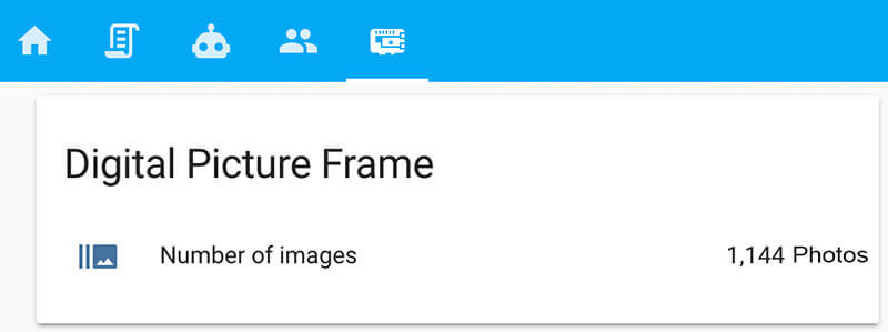 Display the number of photos on your digital picture frame in Home