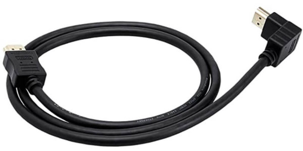 90 Degree Down Angle Elbow HDMI Cable AmazonBasics 1