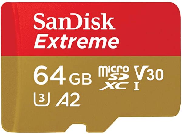 SanDisk 64GB Extreme microSDHC UHS-I Memory Card 1