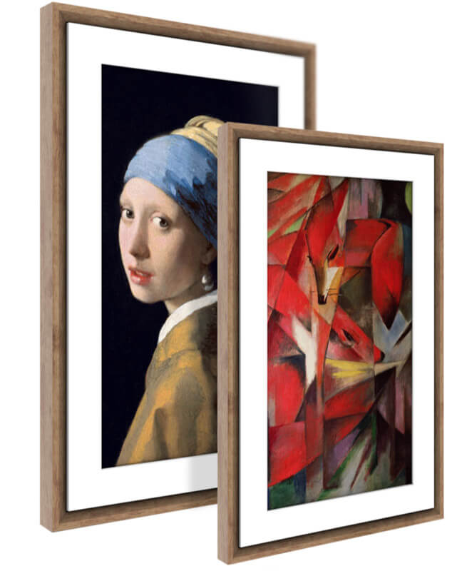 HD Digital Canvas That Renders Images and Photography in Lifelike Detail Powered by NETGEAR WiFi-Connected 16X24 Light Wood Frame Meural Canvas II The Smart Art Frame with 21.5 in MC321LW