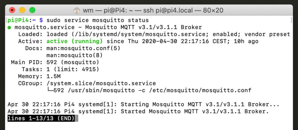 How to install the MQTT Mosquitto broker locally on your digital picture frame's Raspberry Pi 3